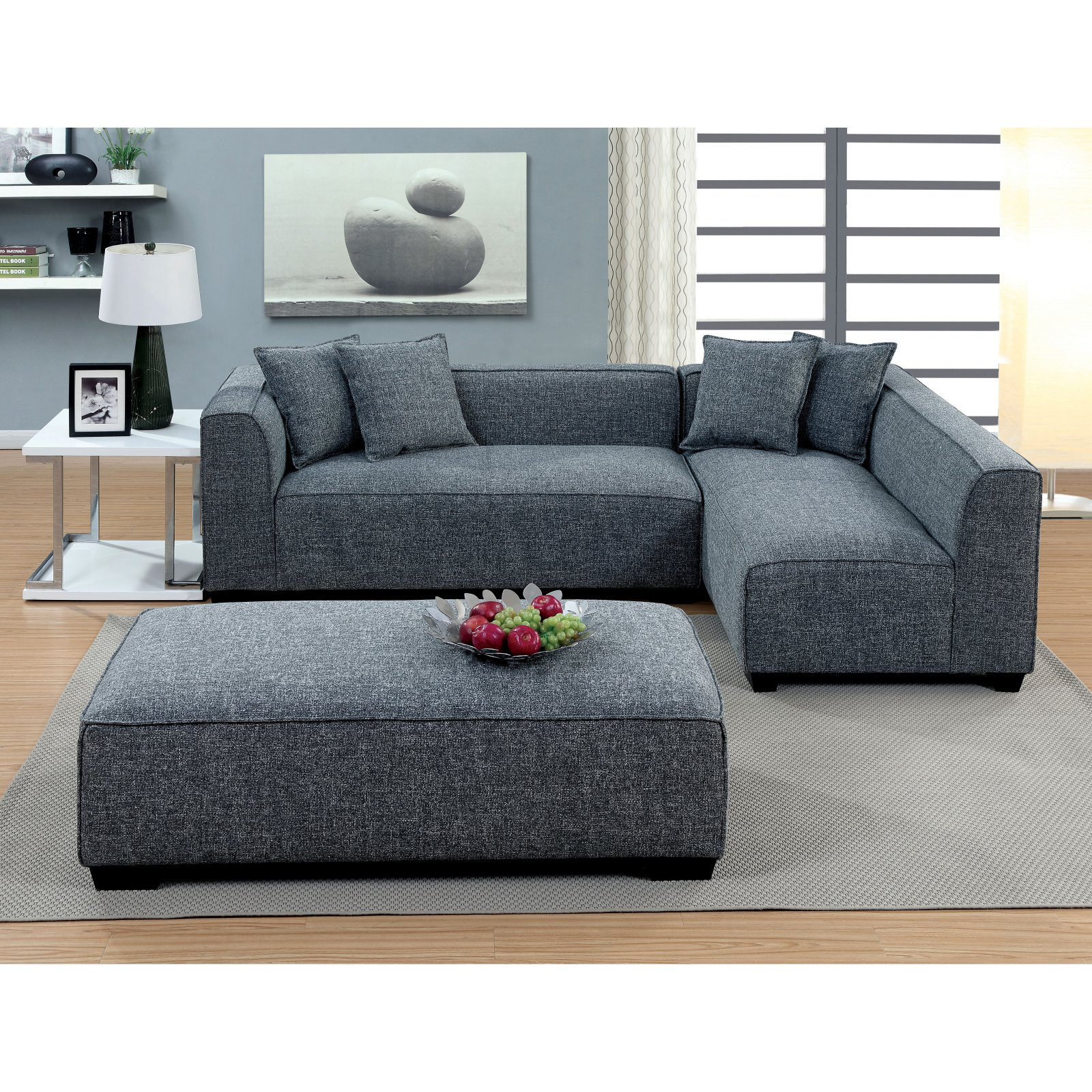 Designer Couch Klein Furniture Of America Misha Contemporary Style Plush Sectional Sofa
