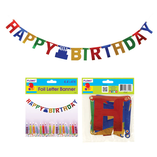 44 Foil Happy Birthday Letter Banner, Case of 36 - Walmart