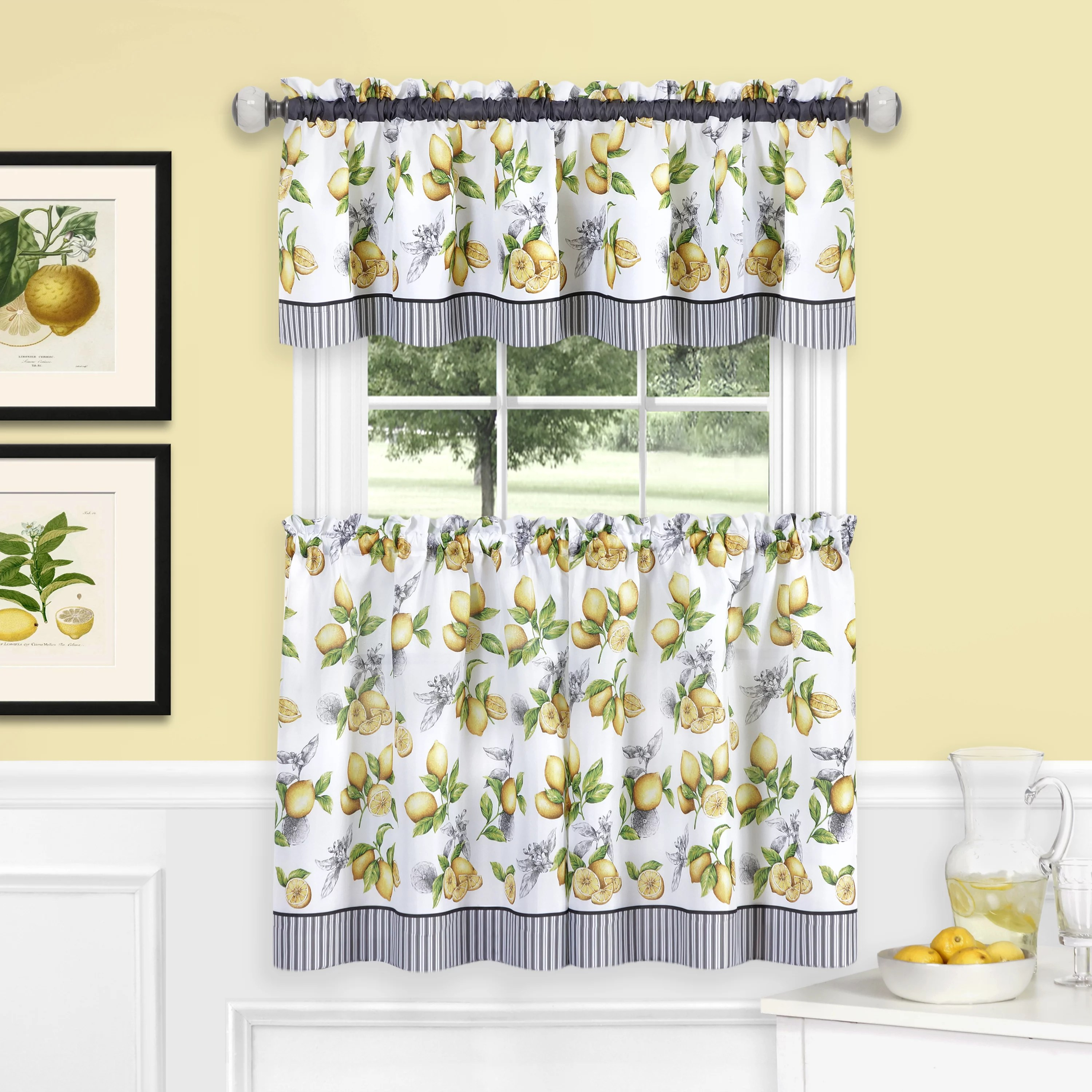 Lemon Green Curtains Lovely Lemon Kitchen Decor Fun Kitchen Decorations