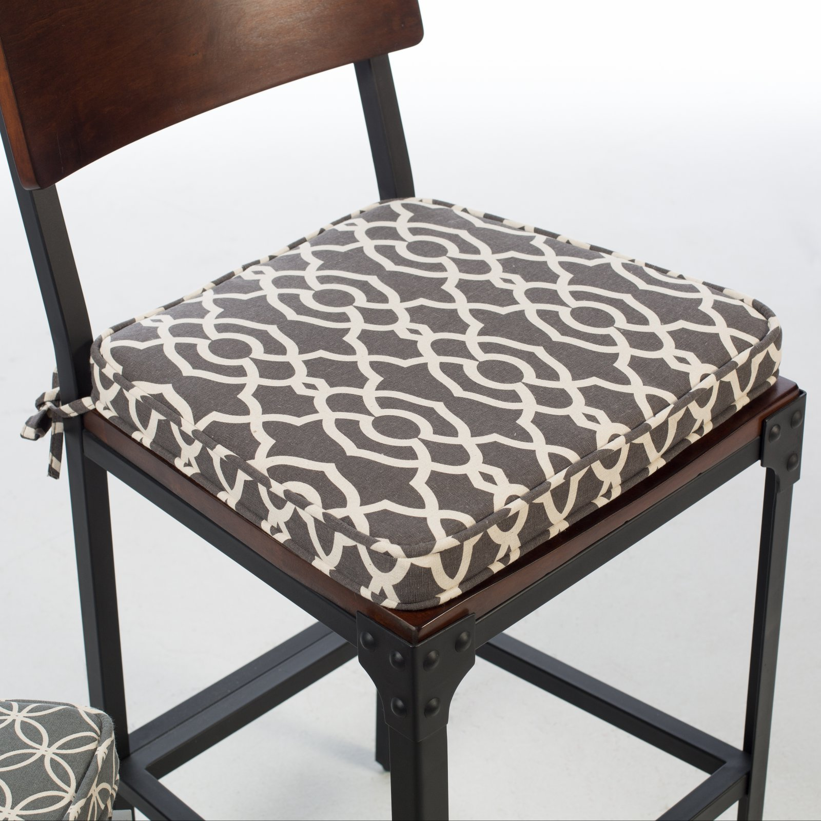 Cushion Chair Belham Living Printed Indoor Dining Chair Cushion