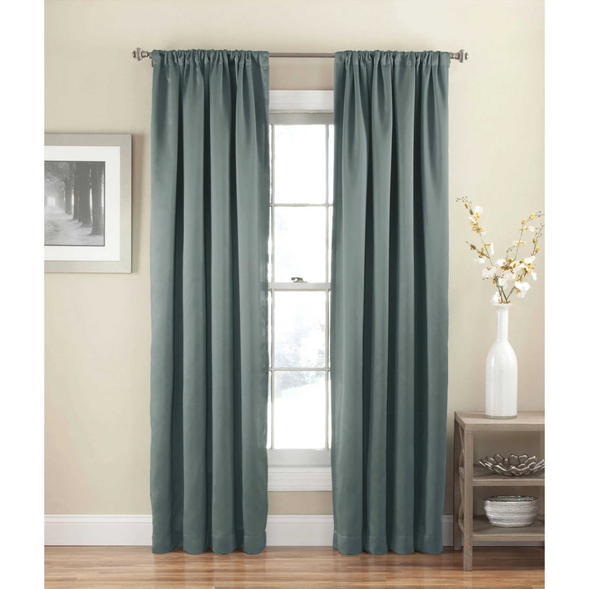 Walmart Thermal Curtains Eclipse Arbor Blackout Window Curtain Panel Walmart