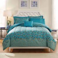 Mainstays Bed in a Bag Bedding Comforter Set, Peacock ...