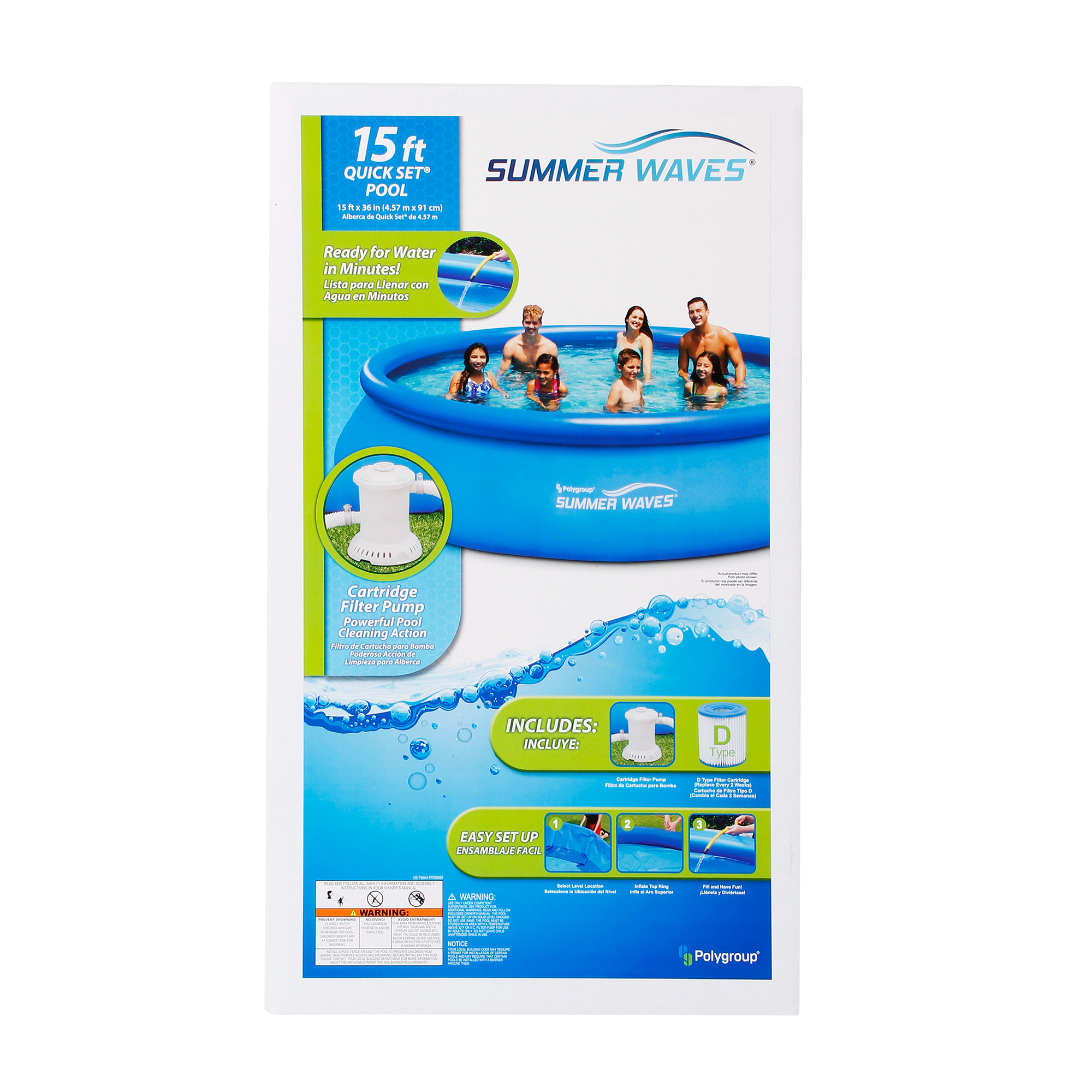 Zwembad Heater Intex Summer Waves 15 X36