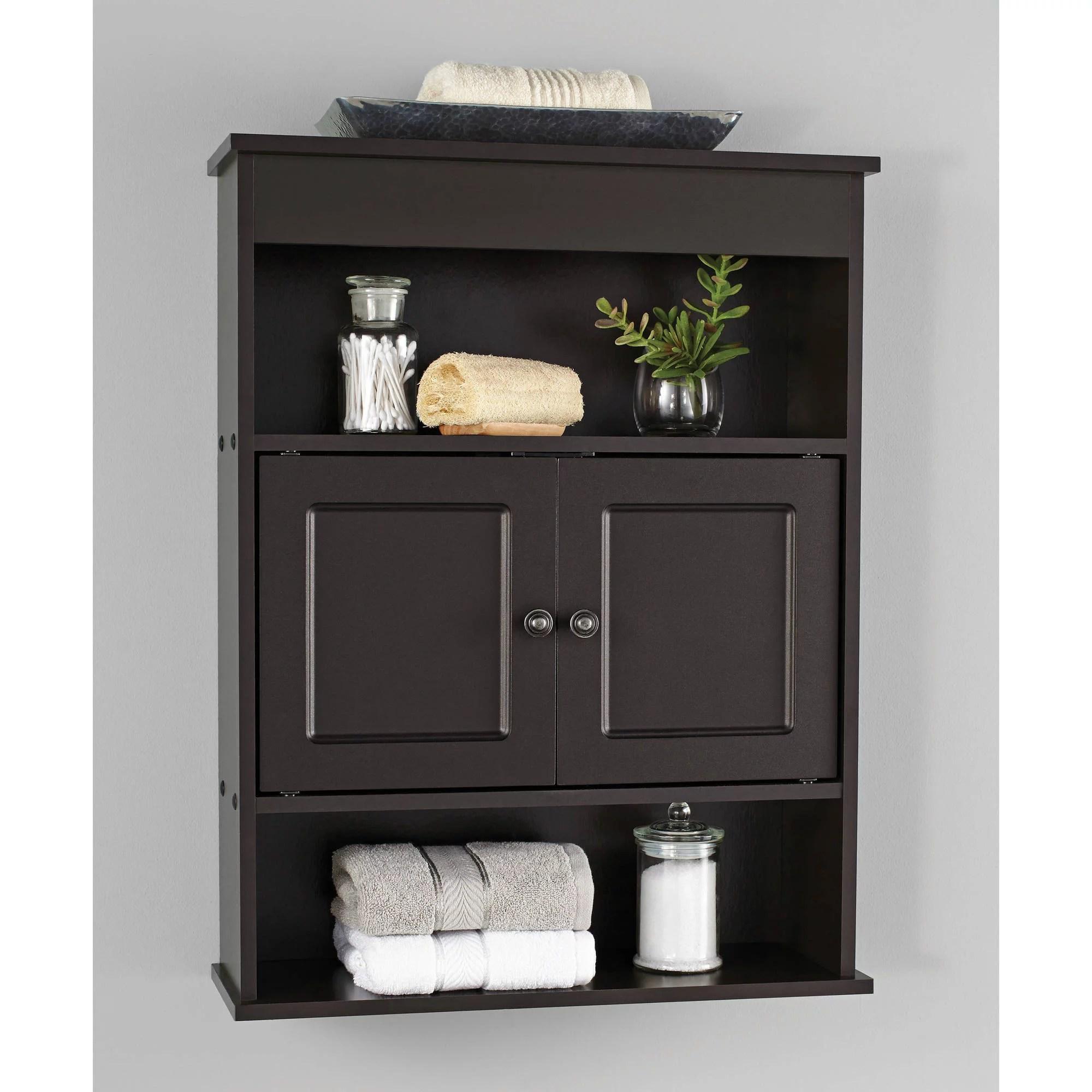 Chapter Bathroom Wall Cabinet Storage Shelf Espresso