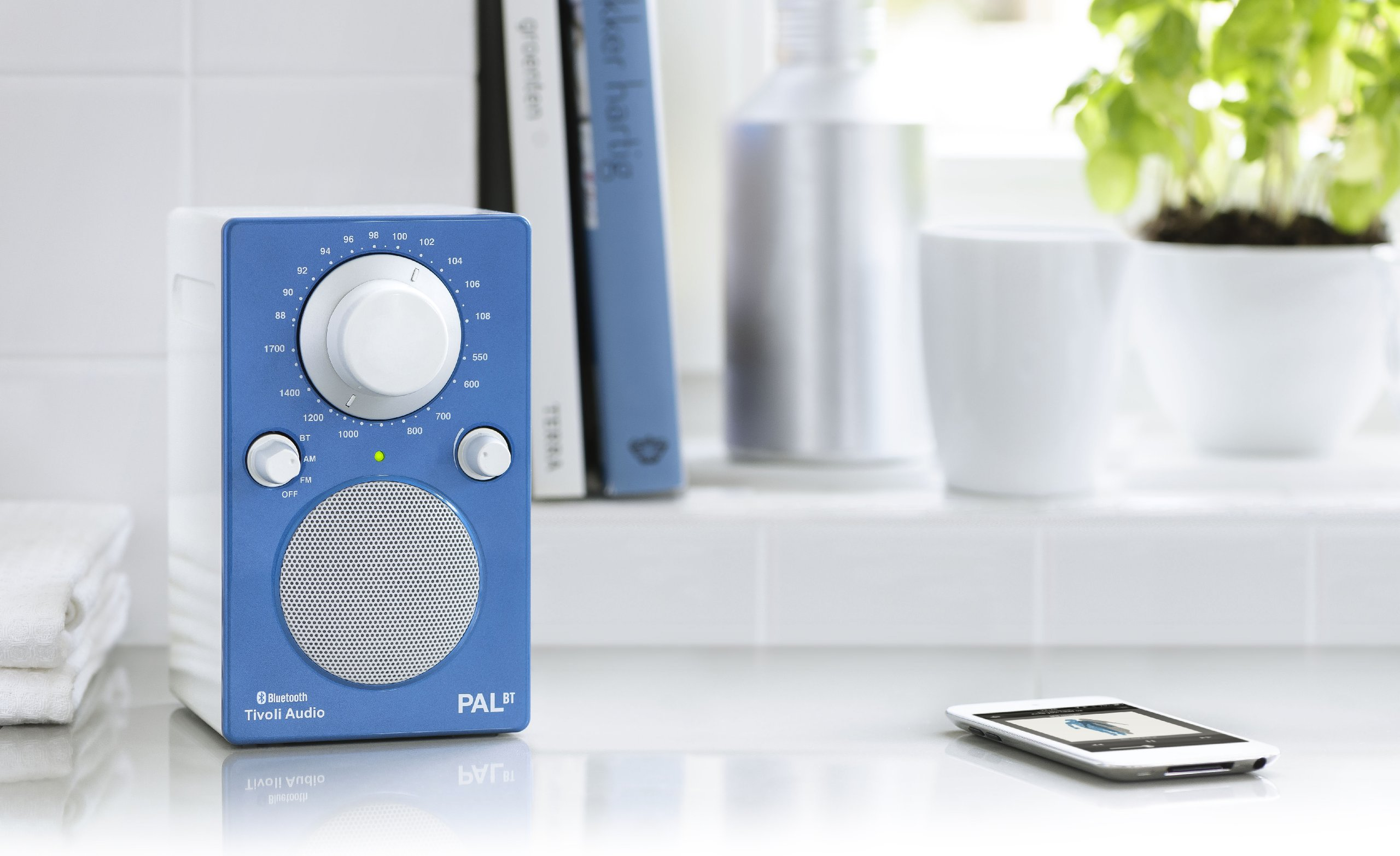 Tivoli Radio Pal Tivoli Audio Pal Bt Bluetooth Portable Radio Glossy Blue White