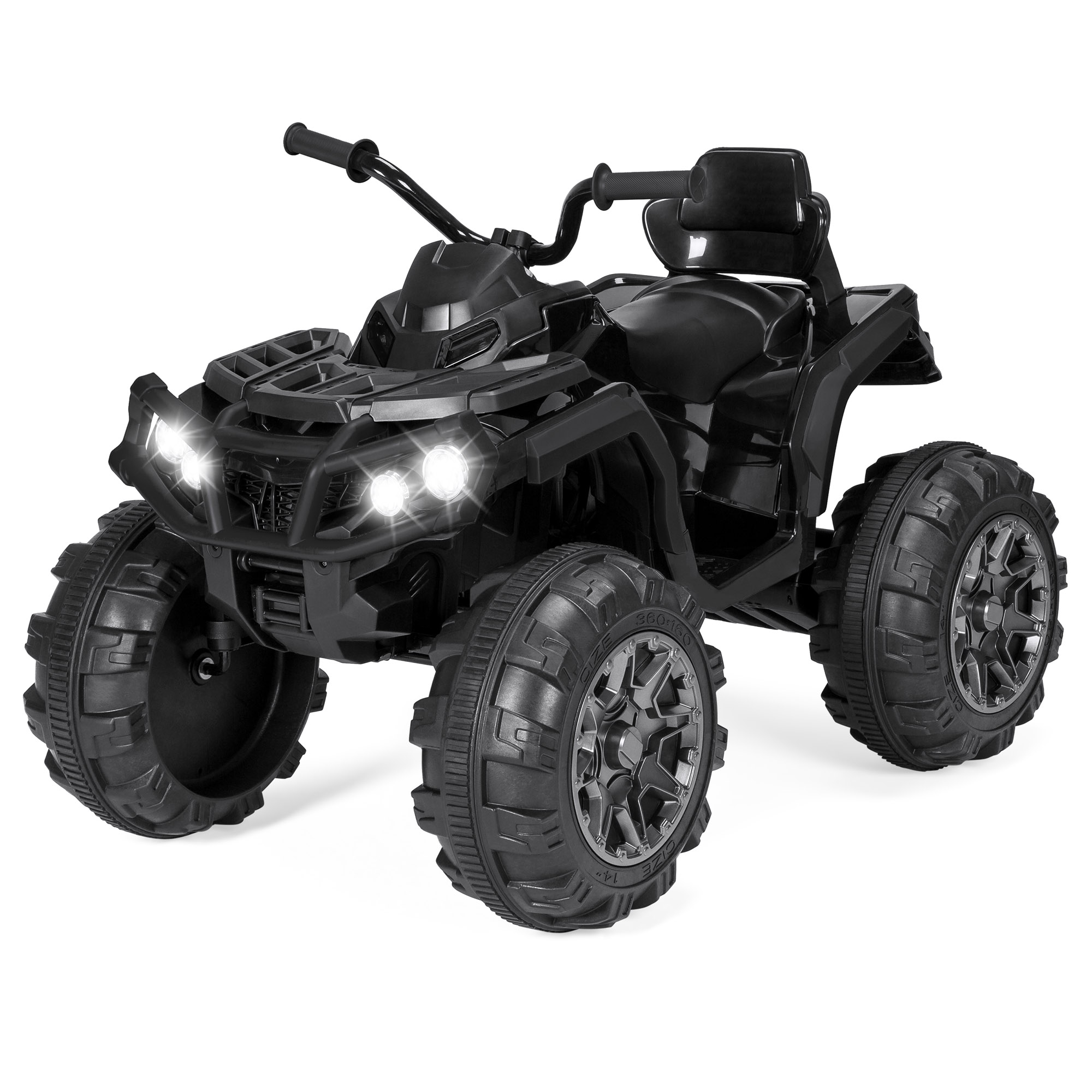 12v Led Quad Details About Kids Atv Quad 4 Wheeler Ride On Vehicle 12v Battery Powered Led Lights Black