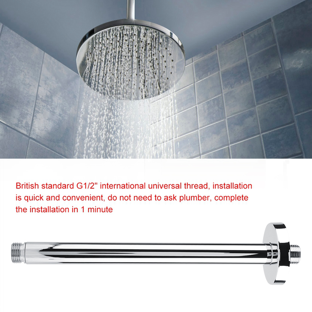 Sonew Stainless Steel Round Top Shower Arm Pipe Wall Mount For Bathroom Ceiling Shower Head Shower Head Extension Shower Arm Walmart Canada