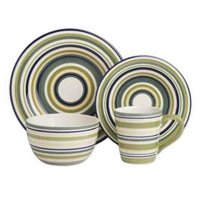 Tag Sonoma 16 pc. Striped Dinnerware Set - Walmart.com