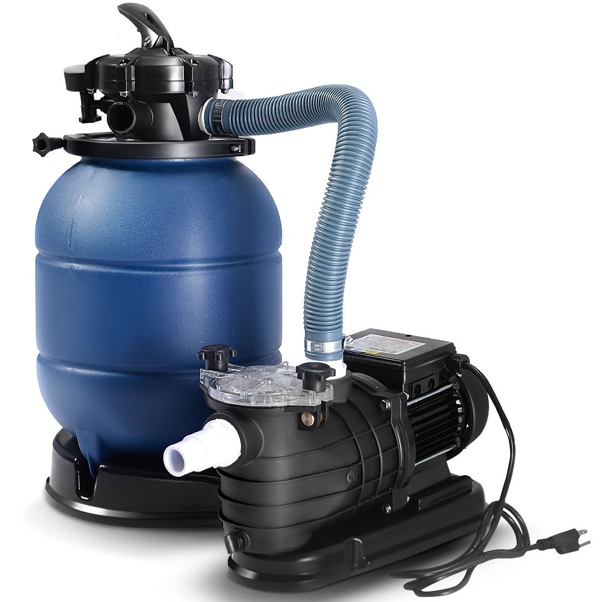 Pool Filter Pump Pressure Too High Costway New Pro 2450gph 13 Sand Filter Above Ground 10000gal Swimming Pool Pump