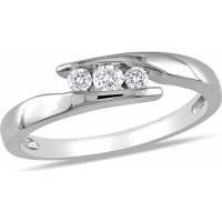 Miabella 1/5 Carat T.W. Diamond Sterling Silver Promise ...