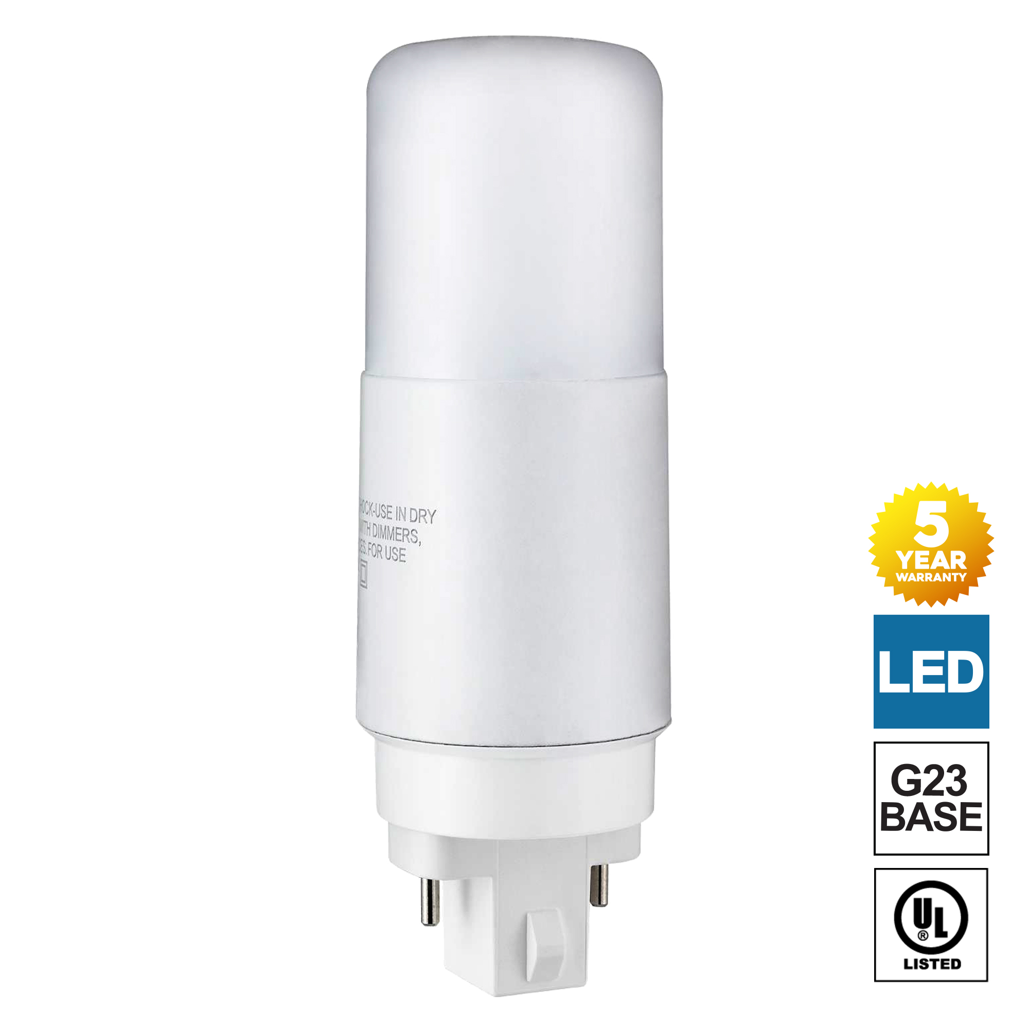 Led G23 Sunlite G23 Led Bulb 2 Pin Plv 7 Watt Cool White 4000k Full 360 Degree Illumination 13 Watt Cfl Replacement Ballast Bypass Required