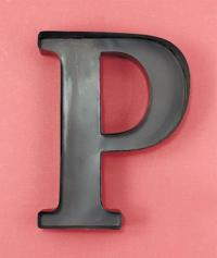 Personalized Letter P Metal Wall Wine Cork Holder ...