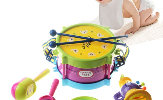 5pcs Baby Musical Toys Drum Infant Learning Instrument