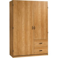 Sauder Beginnings Wardrobe/Storage Cabinet, Highland Oak ...