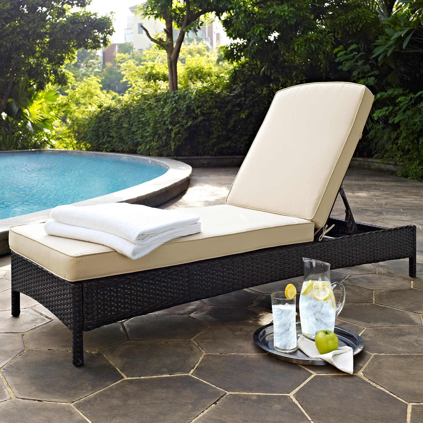 Outdoor Lounge Sofa Crosley Furniture Palm Harbor Outdoor Wicker Chaise Lounge