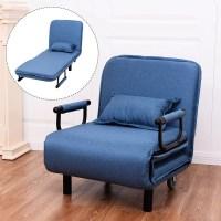 Costway Convertible Sofa Bed Folding Arm Chair Sleeper ...