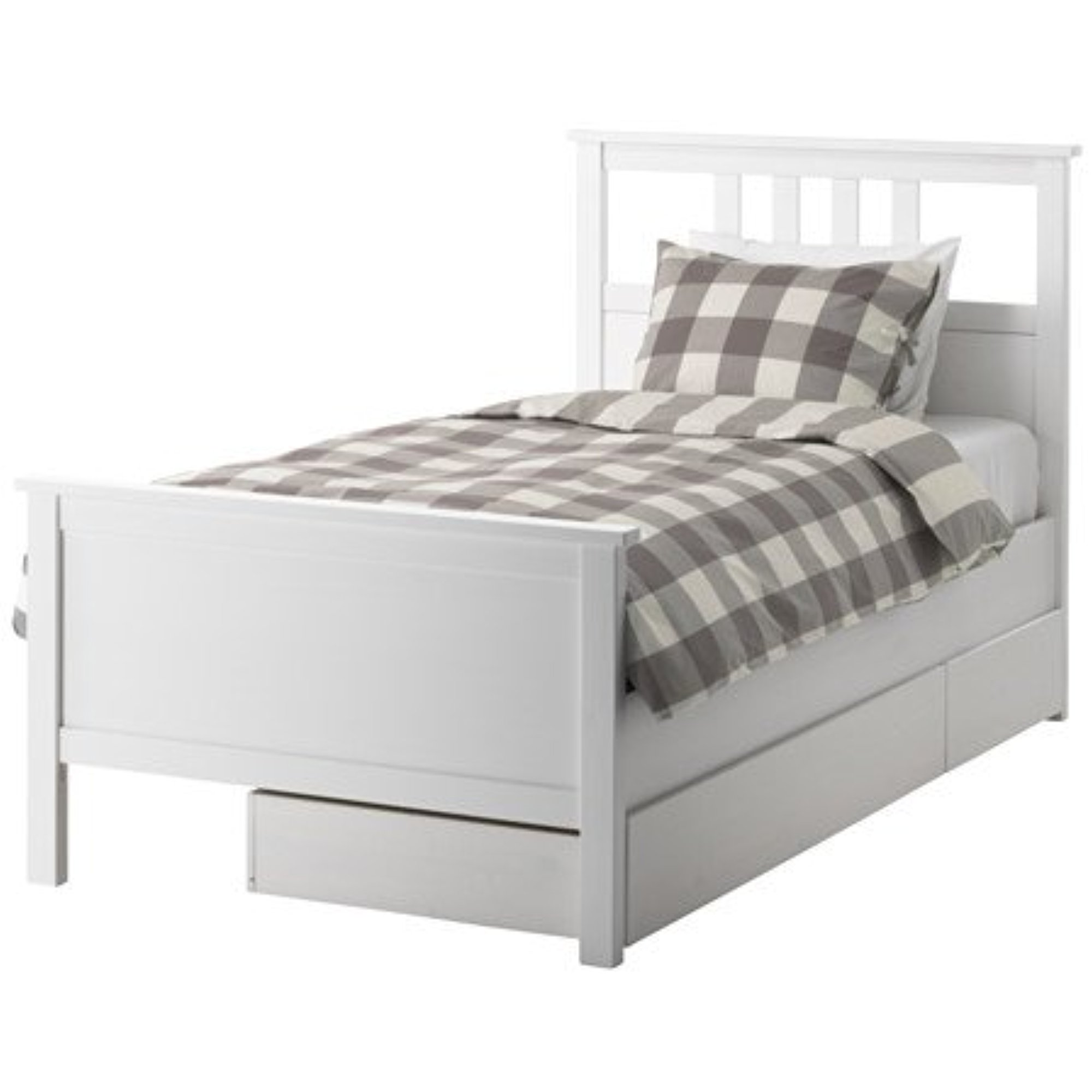 Ikea Twin Size Bed Ikea Twin Size Bed Frame With 2 Storage Boxes White Stain 10386 23811 1012