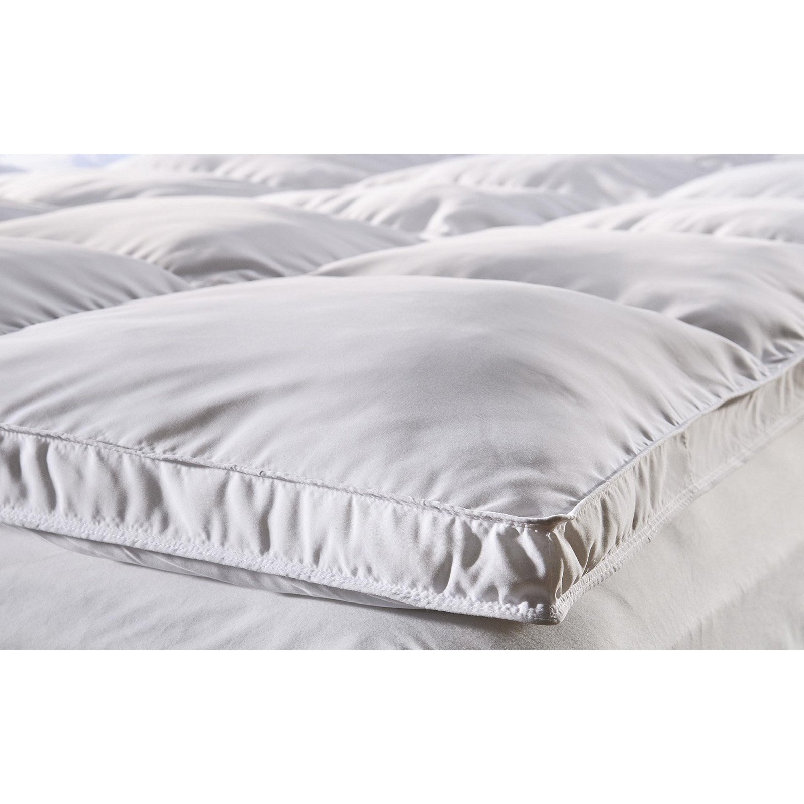 Double Bed Mattress Cover Superior Microfiber All Season Down Alternative Mattress Topper White