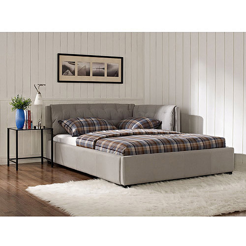 Lounge Upholstered Full Bed Stone Walmartcom