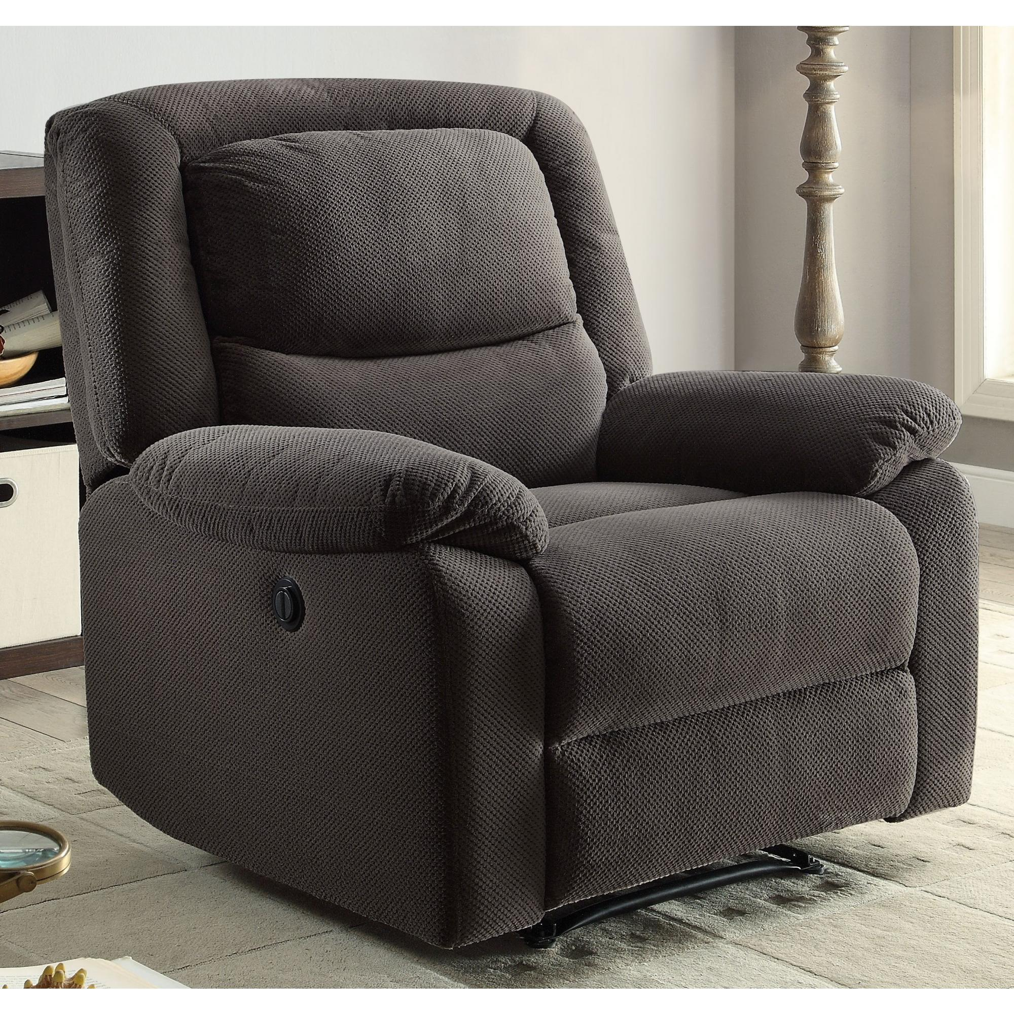 Recliner Pillow Serta Push Button Power Recliner With Deep Body Cushions Ultra Comfortable Reclining Chair Multiple Colors