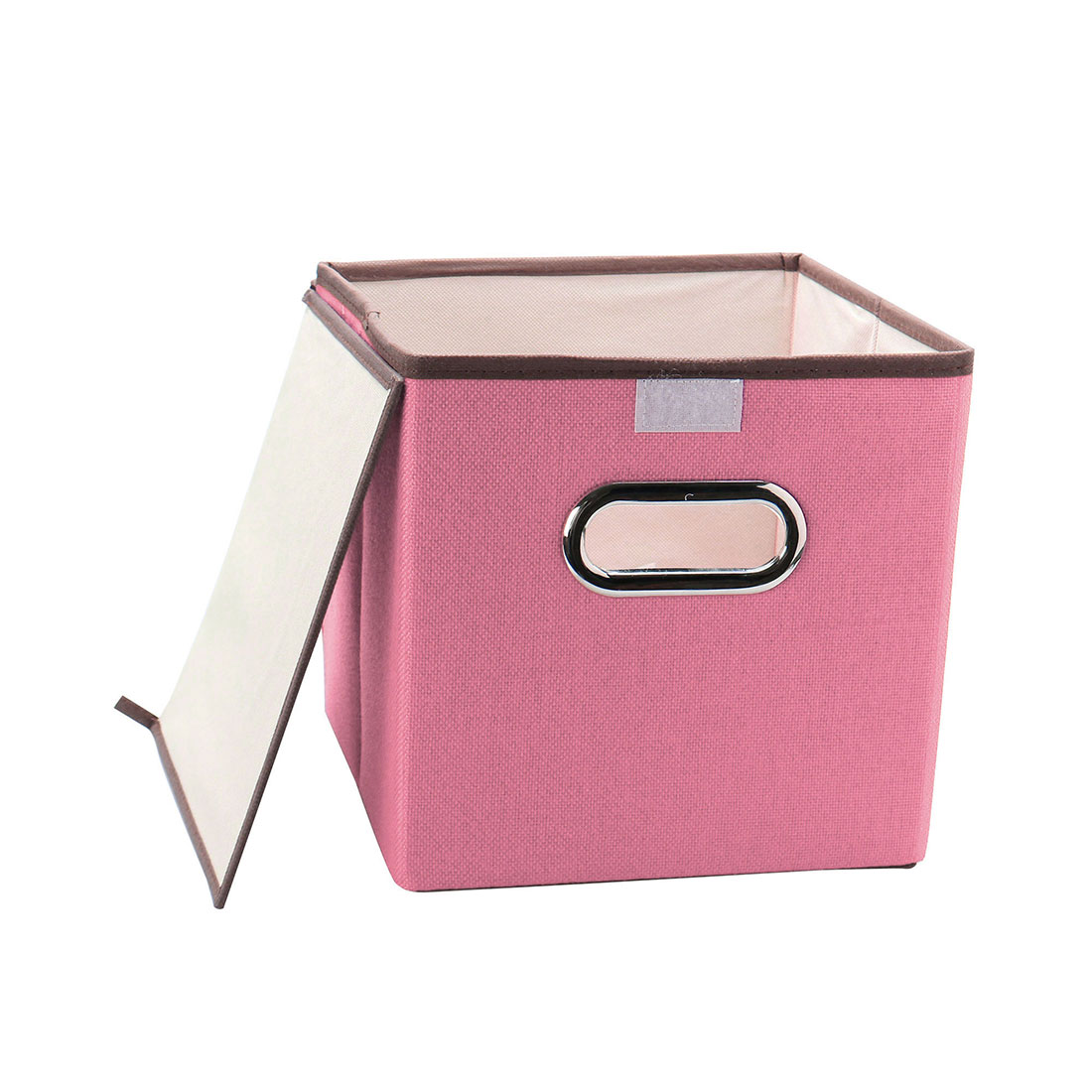 Pink Bins Foldable Storage Cube Bins Fabric Laundry Baskets Toy Box Organizers Pink
