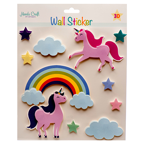 Angles Craft New 381274 Angles Craft 3d Wall Sticker Unicorn 12 Pack X Others Cheap - 3d Wall Sticker Unicorn