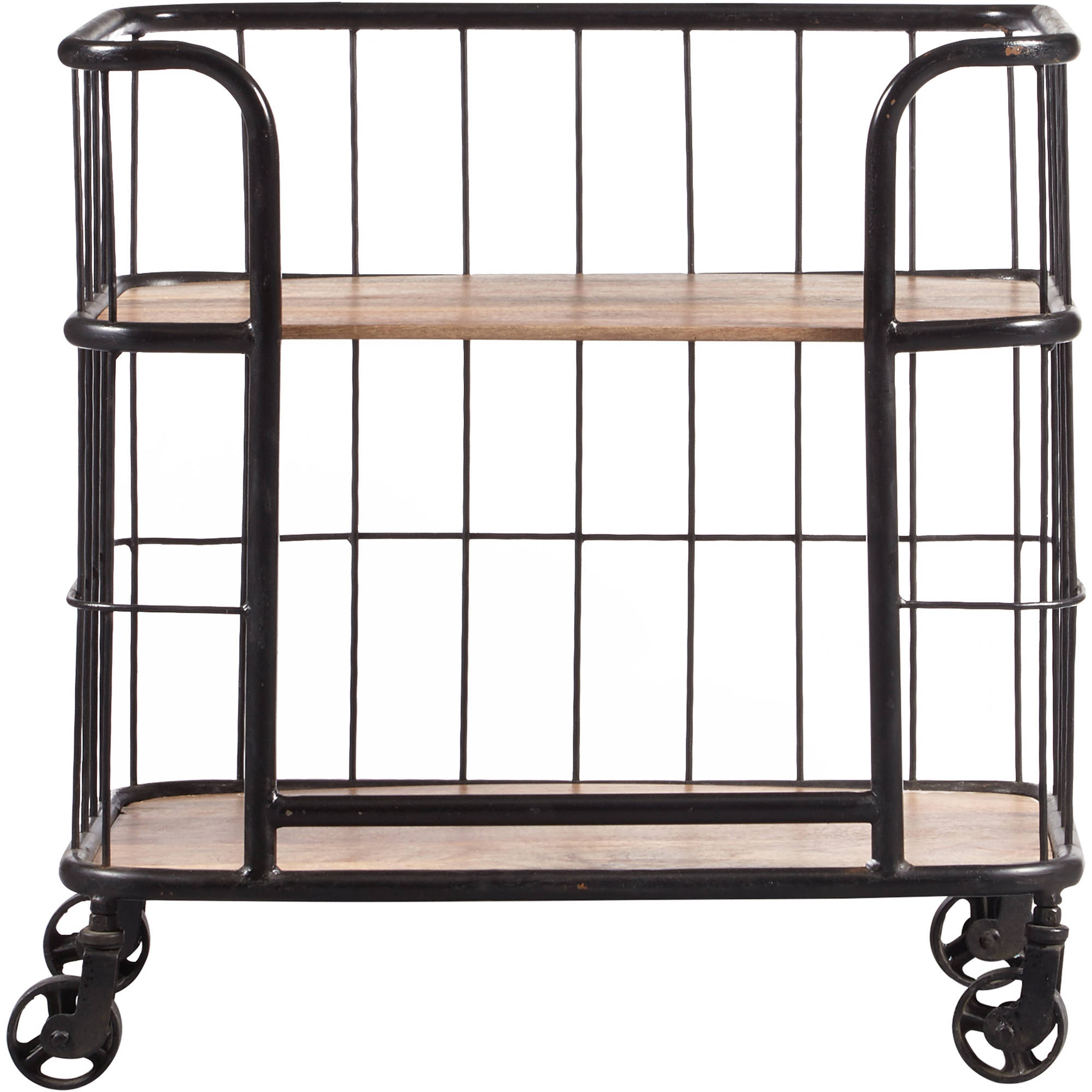 A Frame Trolley Industrial Wood And Metal Trolley Bar Cart