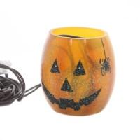 Stony Creek PUMPKIN LIGHTED GLASS JAR Glass Halloween ...