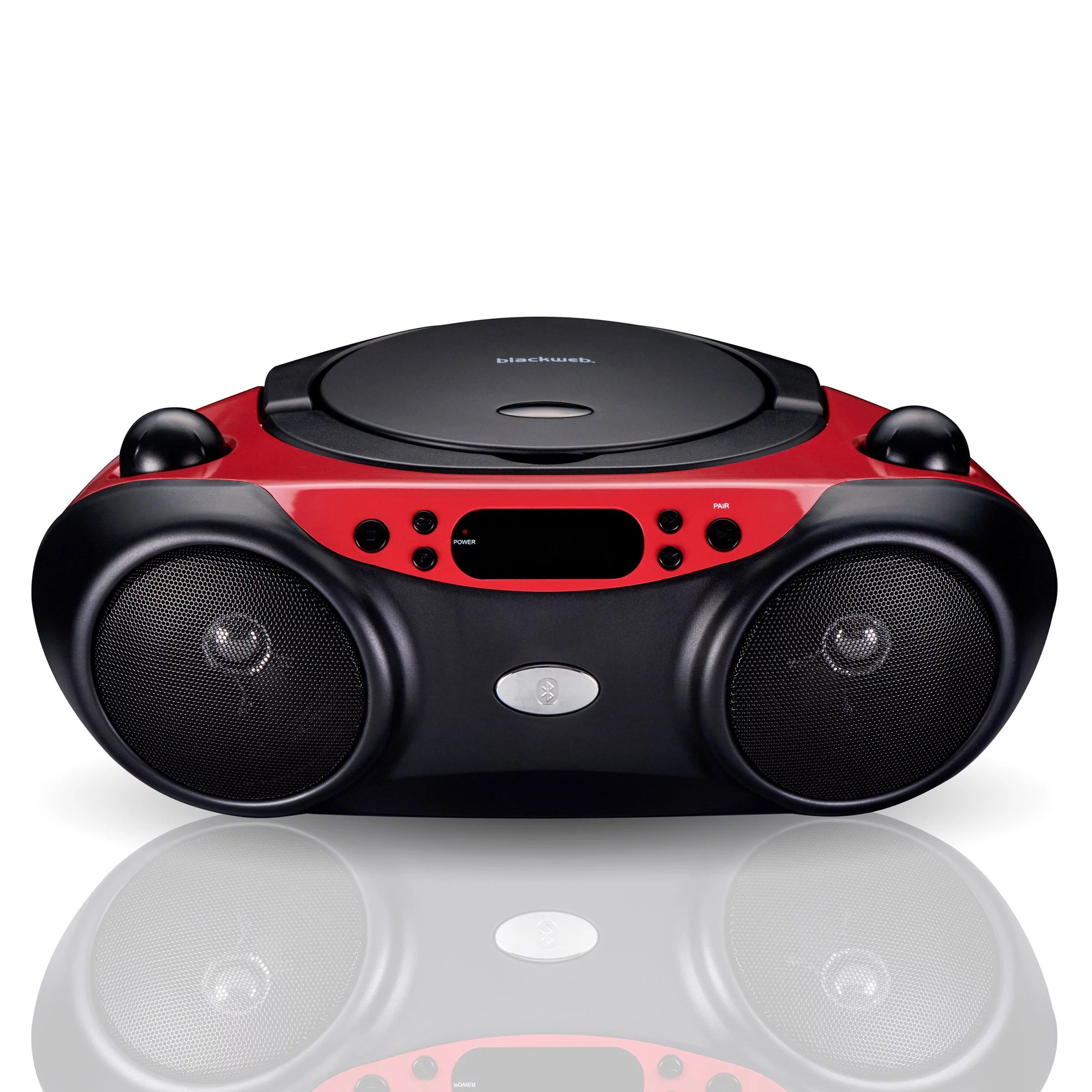 Radio-cd-player Für Badezimmer Blackweb Bluetooth Cd Player With Fm Radio Red And Black