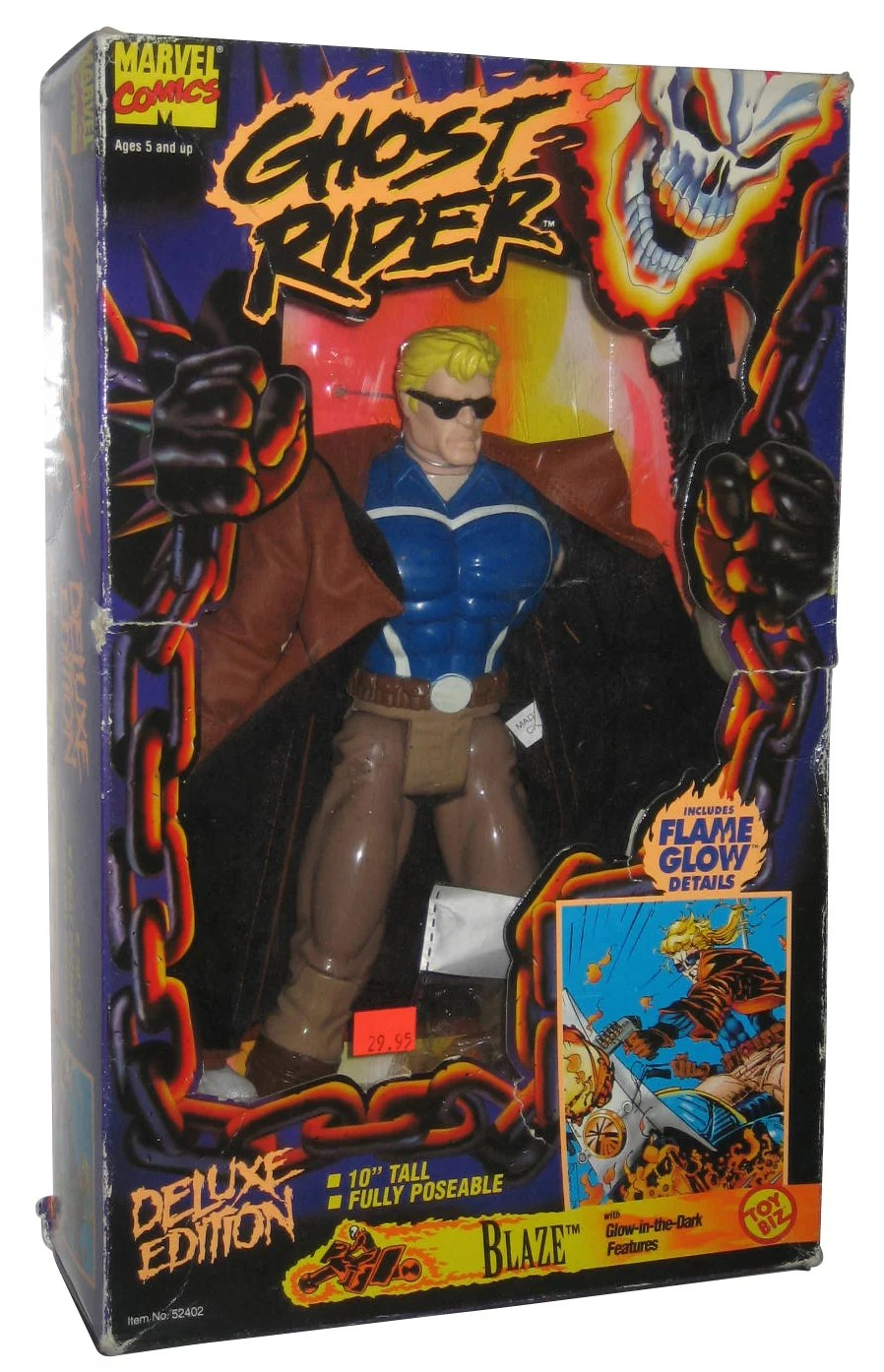Marvel Ghost Rider Blaze Deluxe Edition 10 Inch Poseable