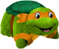 "Pillow Pets TMNT Michelangelo Plush 16"" Stuffed Animal Toy"