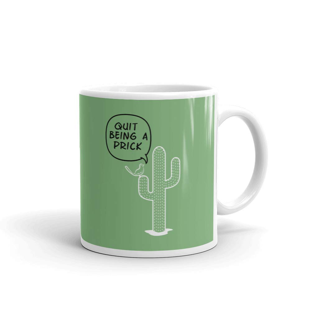 Funny Work Mugs Quit Being A Prick Cactus Funny Coffee Tea Ceramic Mug Office Work Cup Gift 15 Oz