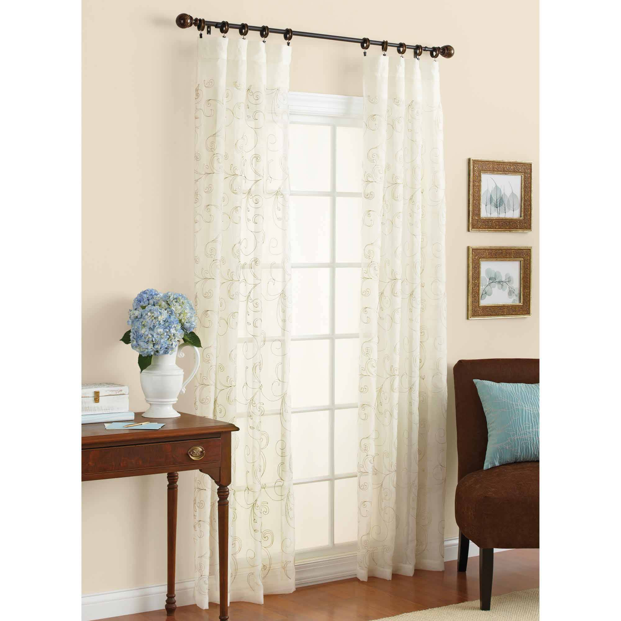 Spotlight Ready To Hang Sheer Curtains Better Homes Gardens Lace Fan Print Panel