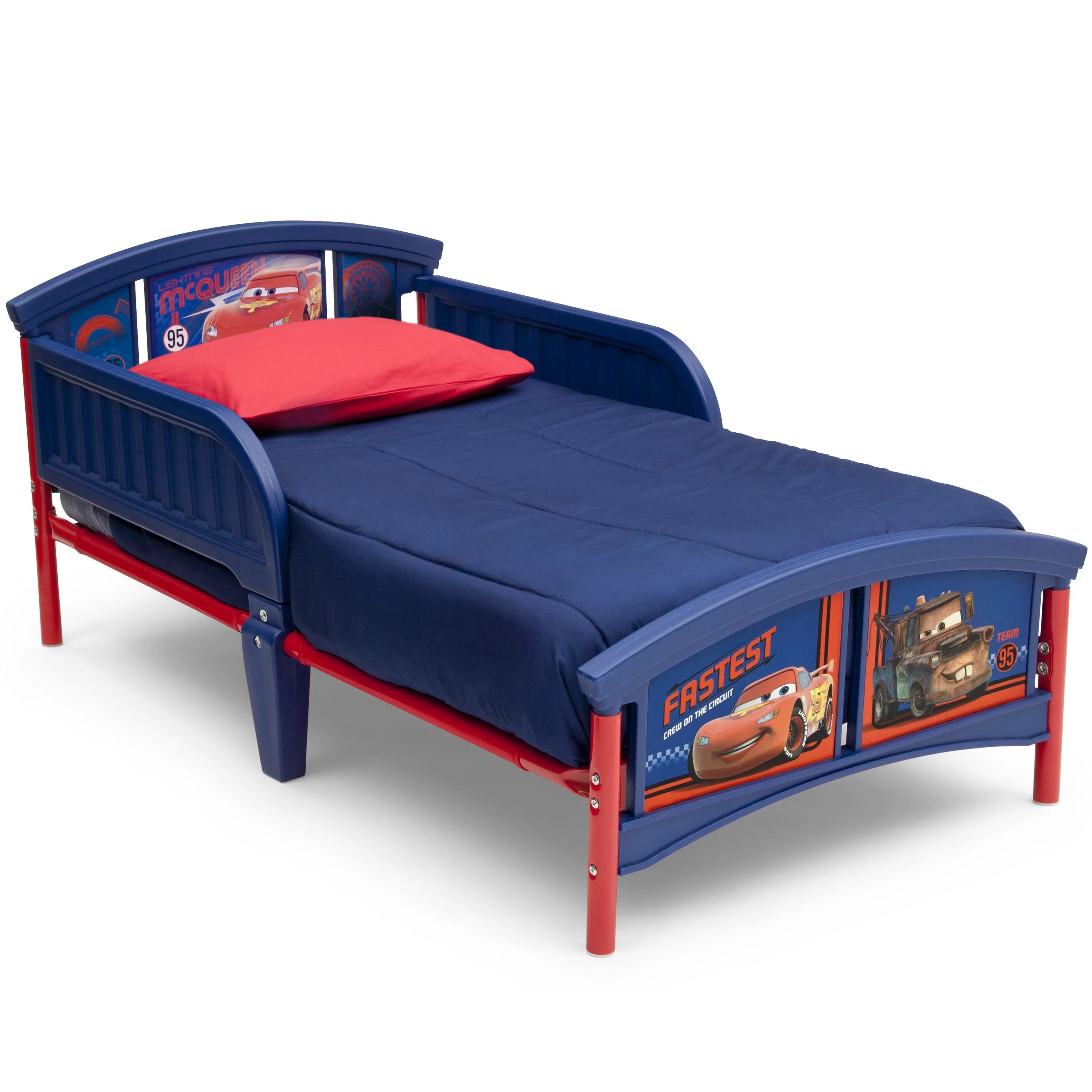 Disney Pixar Cars Plastic Toddler Bed Best Character
