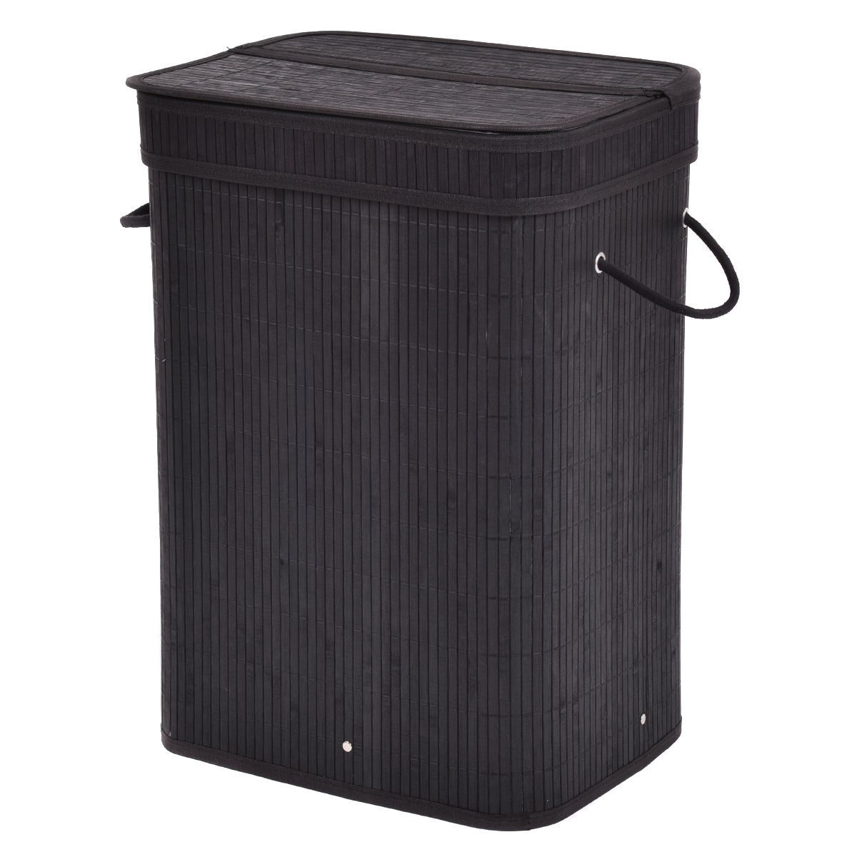 Wood Clothes Hamper With Lid Rectangular Bamboo Laundry Hamper Basket With Lid