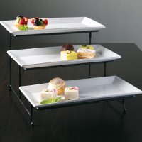 Gibson Elite Gracious Dining 3 Tier Plate Set with Metal ...