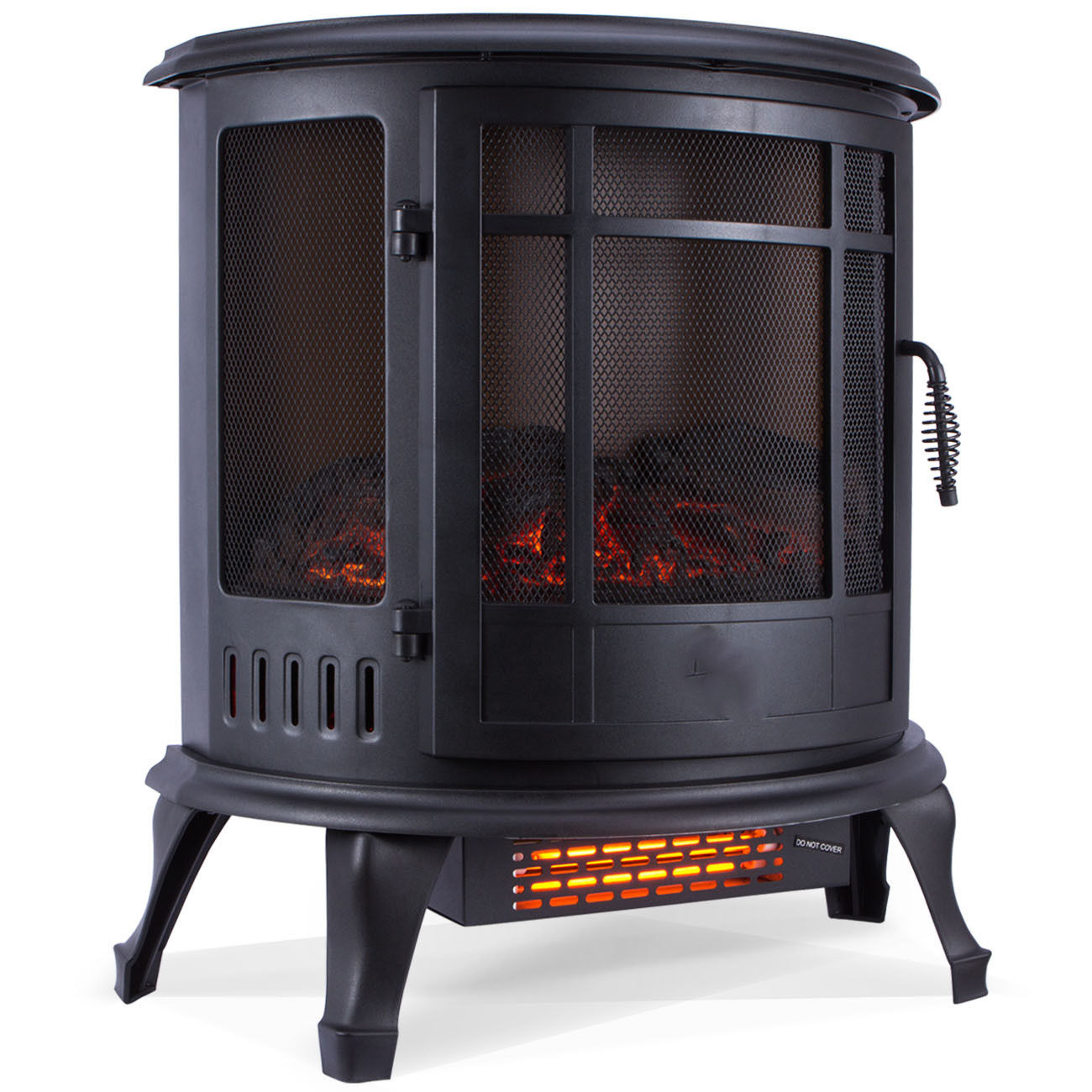 Walmart Black Electric Fireplace Ghp 1400w 700w Black Infrared Front Vent Standing Porable Electric Fireplace Heater