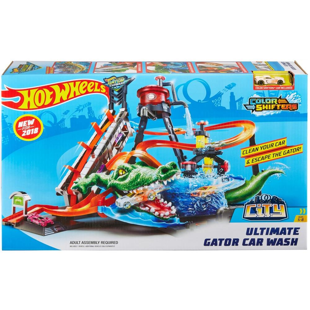 Garage Gator Installation Manual Hot Wheels Ultimate Gator Car Wash Play Set With Color Shifters