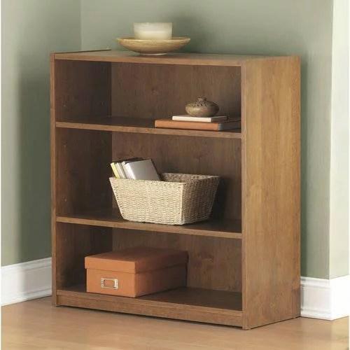 Mainstays 3 Shelf Wood Bookcase Multiple Colors Walmartcom