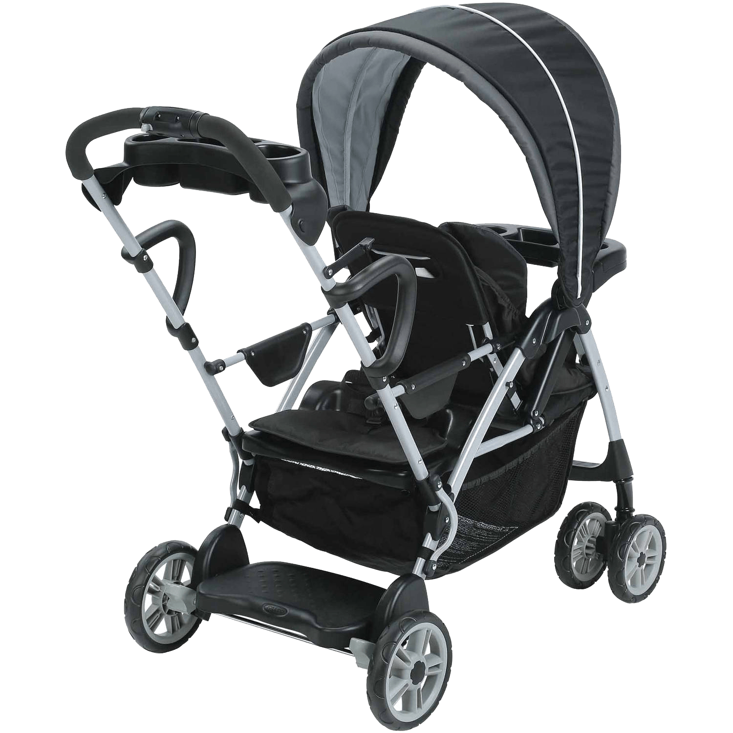 Graco Infant Car Seat Stroller Instructions Graco Roomfor2 Click Connect Stand And Ride Double Stroller Gotham Walmart