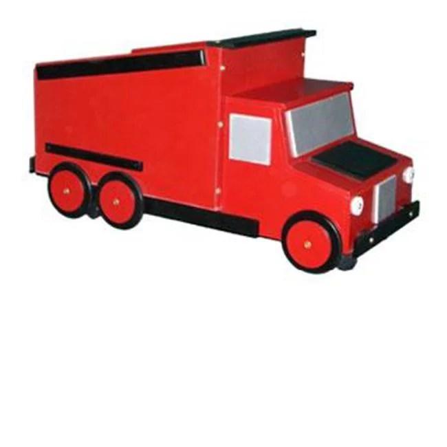 Just Kids Stuff Dumptruck Toy Chest Red Walmart