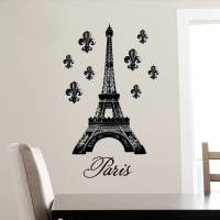 DCWV Vinyl Decal Eiffel Tower Wall Decal - Walmart.com