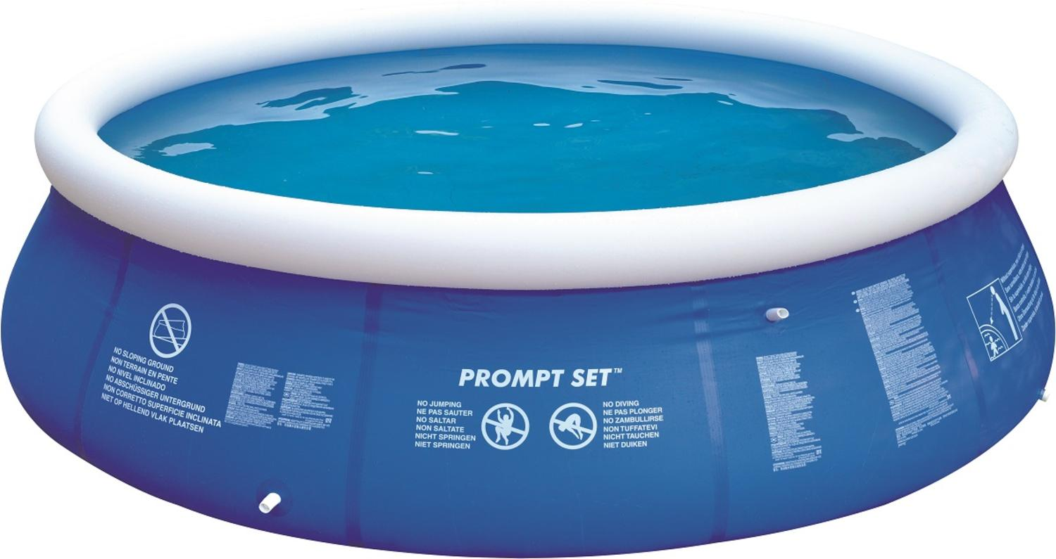 Bestway Frame Pool Untergrund 12 Blue And White Inflatable Above Ground Prompt Set Swimming Pool