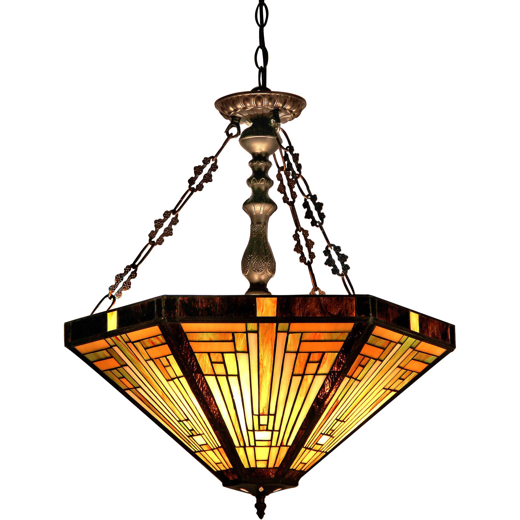 Mission Style Ceiling Light Chloe Lighting Innes Tiffany Style 3 Light Mission