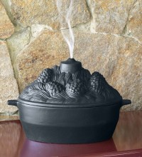Cast Iron Pine Cone Candle Design Wood Stove Steamer ...