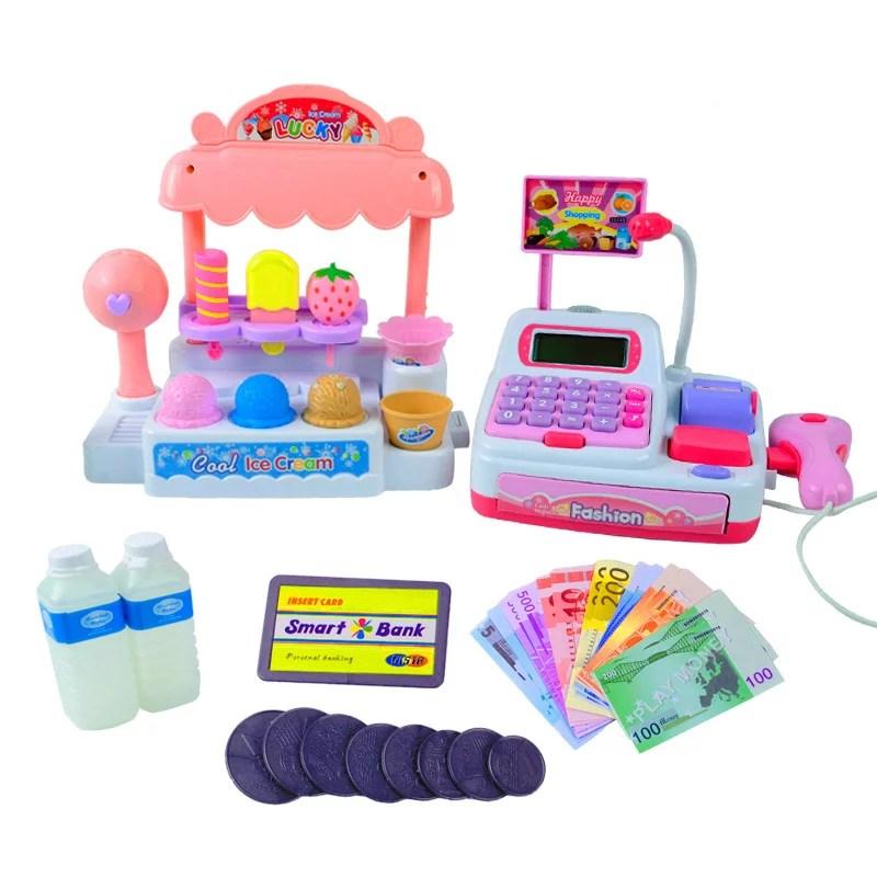 Children Pretend Play Toy Set Ice Cream Shop Cash Register