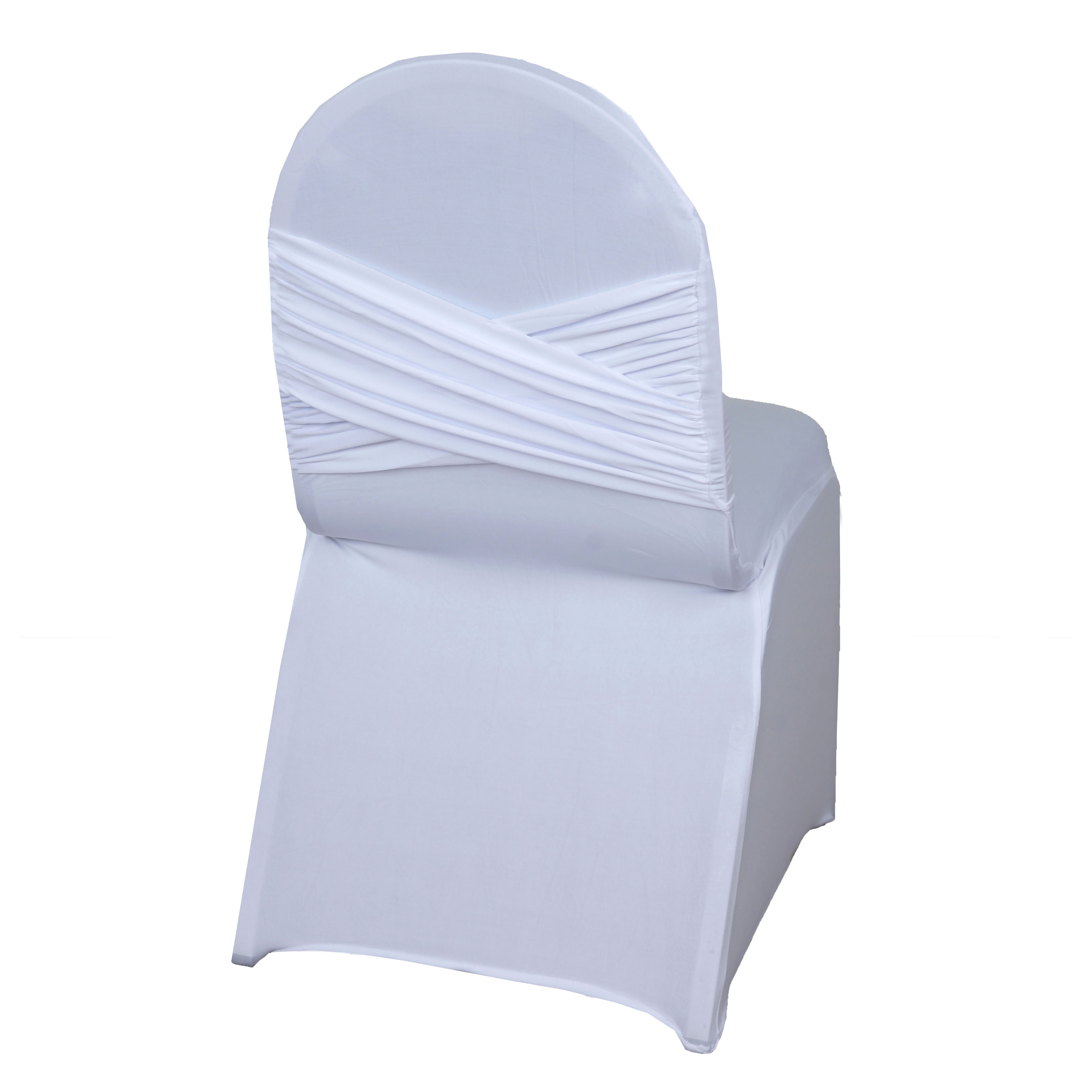 Chair Cover Balsacircle Banquet Spandex Stretchable Chair Covers Crisscross Design Slipcovers For Party Wedding Home Decorations
