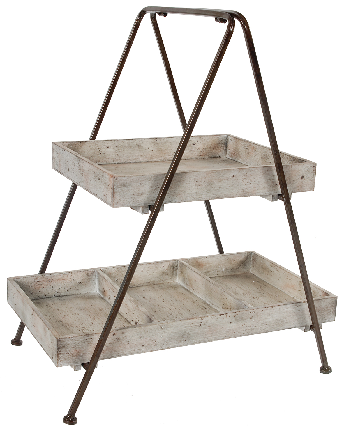 Etageres Jardin A B Home Jardin Two Tiered Wood Metal Shelf