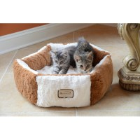 Armarkat Pet Bed, C02NZS/MB, Brown & Ivory - Walmart.com