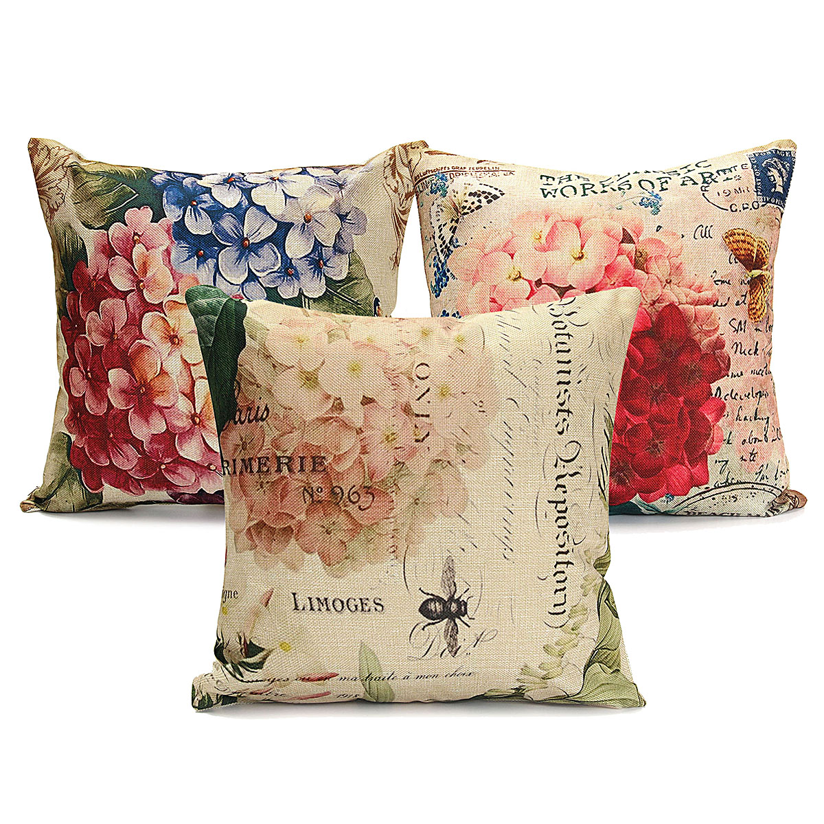 Slip Pillowcase Meigar Vintage Flower Vase Decorative Throw Pillow Case Cushion Cover Clearance 18x18 Inch Square Zipper Waist Pillowcase Pillow Protector Slip Cases